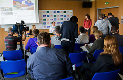 Athlete Primoz Kozmus during his press conference before new season 2013, on April 23, 2013,in Gen-i energija, Krsko, Slovenia. (Photo By Vid Ponikvar / Sportida.com)