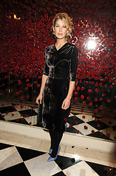 ROSAMUND PIKE at a party to celebrate the 10th Anniversary of Claridge's Bar, Claridge's Hotel, Brook Street, London on 11th November 2008.