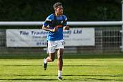 Forest Green Rovers Reece Brown warming up during the Pre-Season Friendly match between Shortwood United and Forest Green Rovers at Meadowbank Ground, Nailsworth, United Kingdom on 14 July 2017. Photo by Shane Healey.