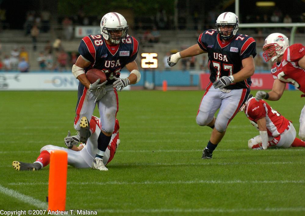 Team USA vs Team Japan..Doug Blakowski in action during the Gold Medal game against Team Japan  at Todoroki Stadium..