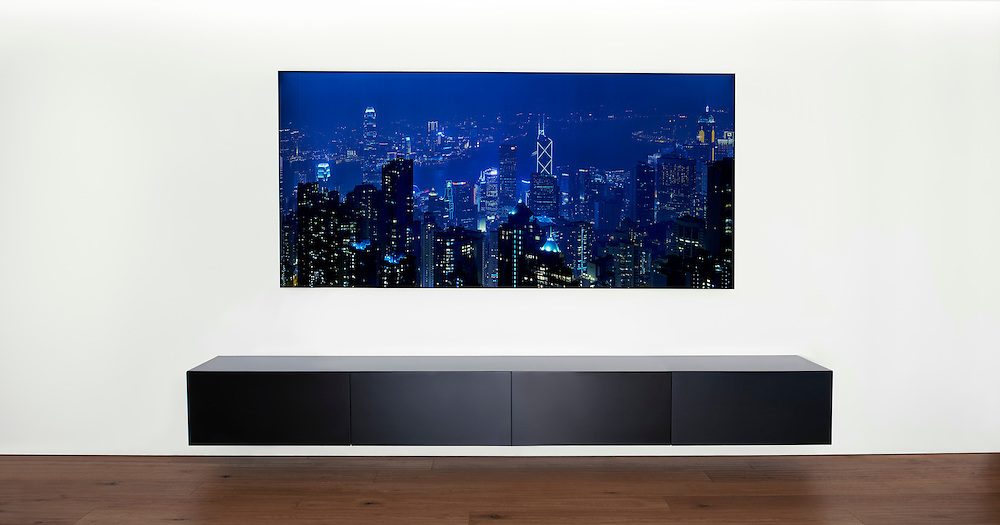 Galvoled with the image of the Hong Kong Skyline, photo from Jürg Kaufmann
