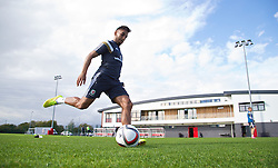 NEWPORT, WALES - Wednesday, October 8, 2014: Wales' Neil Taylor training at Dragon Park National Football Development Centre ahead of the UEFA Euro 2016 qualifying match against Bosnia and Herzegovina. (Pic by David Rawcliffe/Propaganda)
