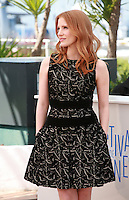 Jessica Chastain at the photo call for the film The Disappearance Of Eleanor Rigby at the 67th Cannes Film Festival, Sunday 18th May 2014, Cannes, France.