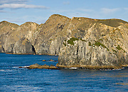 West Head of South Island, Cook Strait, South Pacific Ocean, New Zealand.