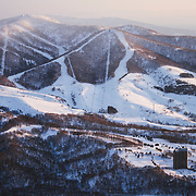 Mt Isola and Rusutsu Resort as seen from Shiribetsu-dake, Hokkaido Jaopan