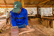 15 MARCH 2013 - BAN DAN NGUYEN: Workers in a furniture factory in Ban Dan Nguyen, in rural Laos.   PHOTO BY JACK KURTZ