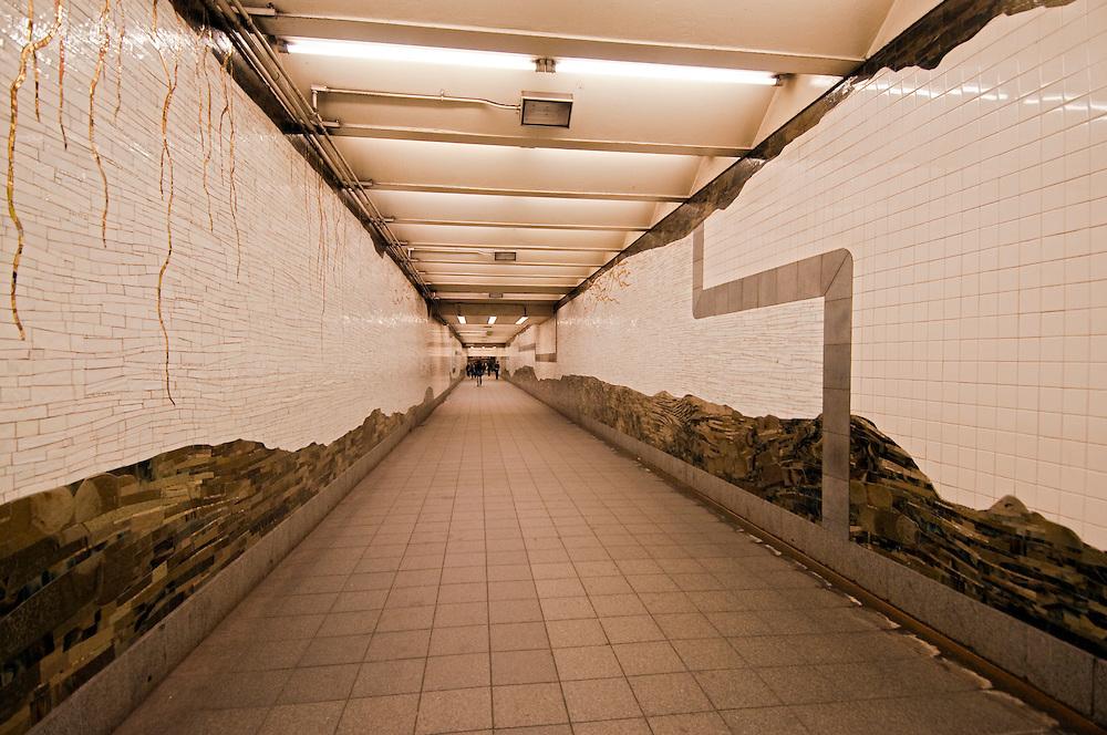 Mosaic, Under Bryant Park, by Samm Kunce, Subway Passageway 42 Street Bryant Park, Manhattan, New York City, New York, USA