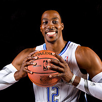 Dwight Howard, Orlando Magic media day promo shots at Amway Arena in Orlando, Florida.