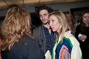 AARON JOHNSON; SAM TAYLOR WOOD;, Opening of Love is what you want. Exhibition of work by Tracey Emin. Hayward Gallery. Southbank Centre. London. 16 May 2011. <br /> <br />  , -DO NOT ARCHIVE-© Copyright Photograph by Dafydd Jones. 248 Clapham Rd. London SW9 0PZ. Tel 0207 820 0771. www.dafjones.com.