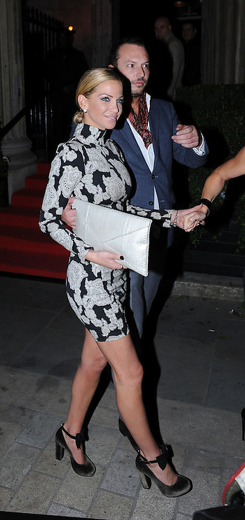 19.SEPTEMBER.2012. LONDON<br /> <br /> SARAH HARDING LEAVING THE LINGERIE AWARDS HELD AT NO1 MAYFAIR, LONDON.<br /> <br /> BYLINE: EDBIMAGEARCHIVE.CO.UK<br /> <br /> *THIS IMAGE IS STRICTLY FOR UK NEWSPAPERS AND MAGAZINES ONLY*<br /> *FOR WORLD WIDE SALES AND WEB USE PLEASE CONTACT EDBIMAGEARCHIVE - 0208 954 5968*
