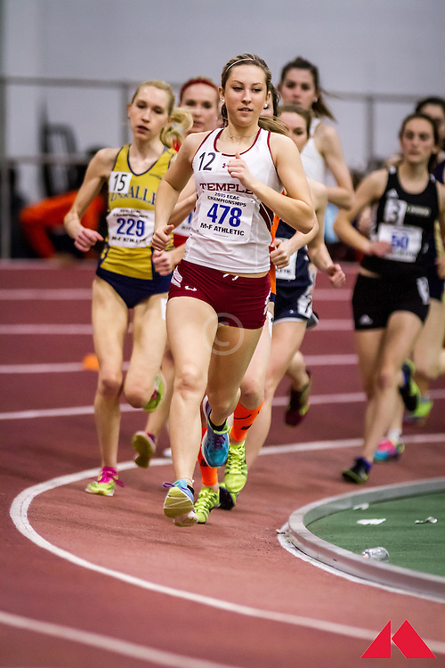 ECAC Indoor Champs, womens 5000, Dubrow, Jenna             SR Temple
