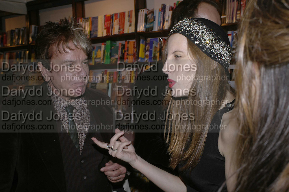Nicky Haslam and Liz Goldwyn, Book launch of Pretty Things by Liz Goldwyn at Daunt <br />