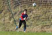 Mt. Anthony goalie Hunter Davis (1) makes a save during the boys semifinal soccer game between Mount Anthony and Champlain Valley Union at CVU high school on Tuesday afternoon October 27, 2015 in Hinesburg. (BRIAN JENKINS/ for the FREE PRESS)