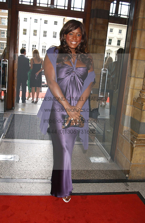 MICA PARIS at the opening party for Diamonds - a new exhibition at The Natural History Museum, London in association with De Beers held on 6th July 2005.<br />