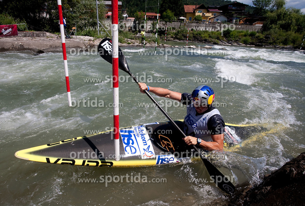 Peter Kauzer of Slovenia competes during semifinal race at ICF Canoe Slalom World Cup Sloka 2011, on June 25, 2011, in Tacen, Ljubljana, Slovenia. (Photo by Vid Ponikvar / Sportida)