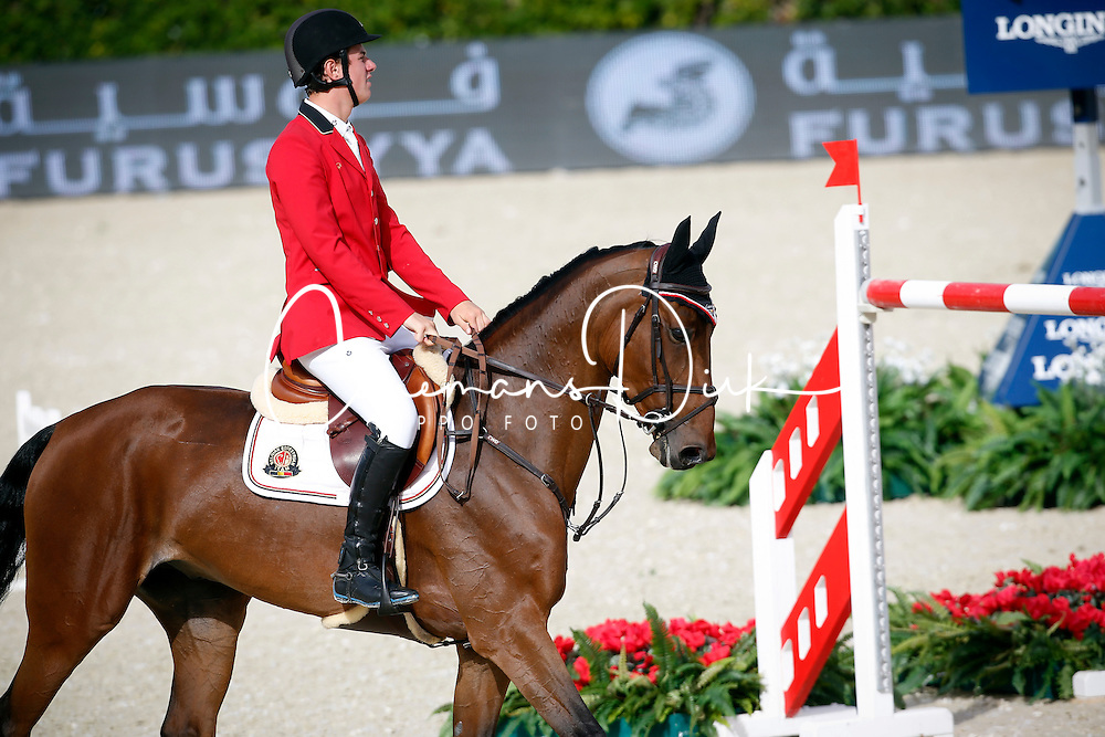 Verlooy Jos (BEL) - Domino<br /> Furusiyya FEI Nations Cup Jumping Final Round 1<br /> CSIO Barcelona 2013<br /> © Dirk Caremans