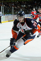 KELOWNA, CANADA, OCTOBER 29: Austin Madaisky #23 of the Kamloops Blazers skates on the ice as the Kamloops Blazers visit the Kelowna Rockets  on October 29, 2011 at Prospera Place in Kelowna, British Columbia, Canada (Photo by Marissa Baecker/Shoot the Breeze) *** Local Caption *** Austiin Madaisky