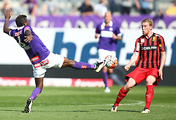 07.05.2016, Generali Arena, Wien, AUT, 1. FBL, FK Austria Wien vs FC Admira Wacker Moedling, 34. Runde, im Bild Olarenwaju Ayobami Kayode (FK Austria Wien) und Thomas Ebner (FC Admira Wacker Moedling) // during Austrian Football Bundesliga Match, 34th Round, between FK Austria Vienna and FC Admira Wacker Moedling at the Generali Arena, Vienna, Austria on 2016/05/07. EXPA Pictures © 2016, PhotoCredit: EXPA/ Thomas Haumer