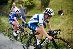 Lotta Lepistö (FIN) approaches the top of the climb at Giro Rosa 2018 - Stage 5, a 122.6 km road race starting and finishing in Omegna, Italy on July 10, 2018. Photo by Sean Robinson/velofocus.com