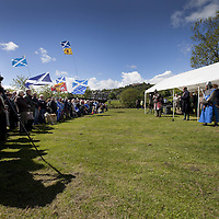 The Earl of Moray, Andrew de Moray&rsquo;s direct descendent, speaks on the site of the Battle of Stirling Bridge.<br /> <br /> BRAVEHEART HEROES, WILLIAM WALLACE AND ANDREW DE MORAY, FINALLY HONOURED AT STIRLING BRIDGE BATTLE SITE AS SALTIRE RAISED FOR FIRST TIME IN OVER 700 YEARS<br /> <br /> Friday 29th May, 2015<br /> <br /> IT&rsquo;S TAKEN more than 700 years but today, the two heroes at the centre of one of the most important battles in Scottish history have been jointly honoured at the spot where they both led an outnumbered Scottish army to victory against the English.<br /> The formal unveiling ceremony at Stirling Bridge today (Friday 29th May), of three lecterns made of traditional Scottish whinstone dedicated to the memory of William Wallace and Andrew de Moray,&nbsp;at site of the historic victory at Battle of Stirling Bridge.<br /> At a special ceremony attended by Andrew de Moray&rsquo;s direct descendant, the Earl of Moray, and Stewart Maxwell, MSP, convener of the Scottish Parliament&rsquo;s Education and Culture Committee, the memorials were formally unveiled.Mr Maxwell opened the event and after the dedication, together with the Earl of Moray, they raised the Saltire together at the site of the Battle of Stirling Bridge. This is the first time in over 700 years that the Saltire has flown at Stirling Bridge. The flag will now become a permanent fixture at the site of the Battle.<br /> John Stuart, the current Earl of Moray, said of his illustrious kinsman: &ldquo;I am delighted that Andrew de Moray is finally, after 700 years, to have the recognition he deserves. The Guardians of Scotland have put a huge amount of time and effort into the lecterns, which are a very fitting tribute to one of Scotland's greatest patriots.&quot;<br /> The victory represented a key moment in the Scottish Wars of Independence. Eminent Scots historian, Sir Tom Devine, recently described the battle as being &lsquo;second in importance only to Bannockburn in the Wars of Independence&rsquo;.&nbsp;<br /> It is the first time the two men have been given equal prominence. One ston