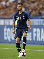 Lucas Hernandez of France during the UEFA Nations League A group 1 qualifying match between France and The Netherlands on September 09, 2018 at Stade de France in Saint Denis,  France