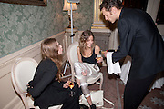Anoushka Beckwith; ROSE LANGLEY, The Dowager Duchess od Devonshire and Catherine Ostler editor of the Tatler host a party to celebrate Penguin's reissue of Nancy Mitford's ' Wigs on the Green.'  The French Salon. Claridge's. London. 10 March 2010.