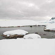 A small inlet at Hughes Bay on the Antarctic Peninsula.