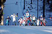 LAHTIS, FINLAND - 5 MARS: Sergey Ustiugov under herrarnas 50 km mass start under FIS Nordic World Ski Championships den 5 mars , 2017 i Lahti, Finland. <br /> Foto: Nils Petter Nilsson/Ombrello<br /> ***BETALBILD***