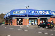 Stellisons Euronics electrical superstore shop in central Ipswich, Suffolk, England, UK
