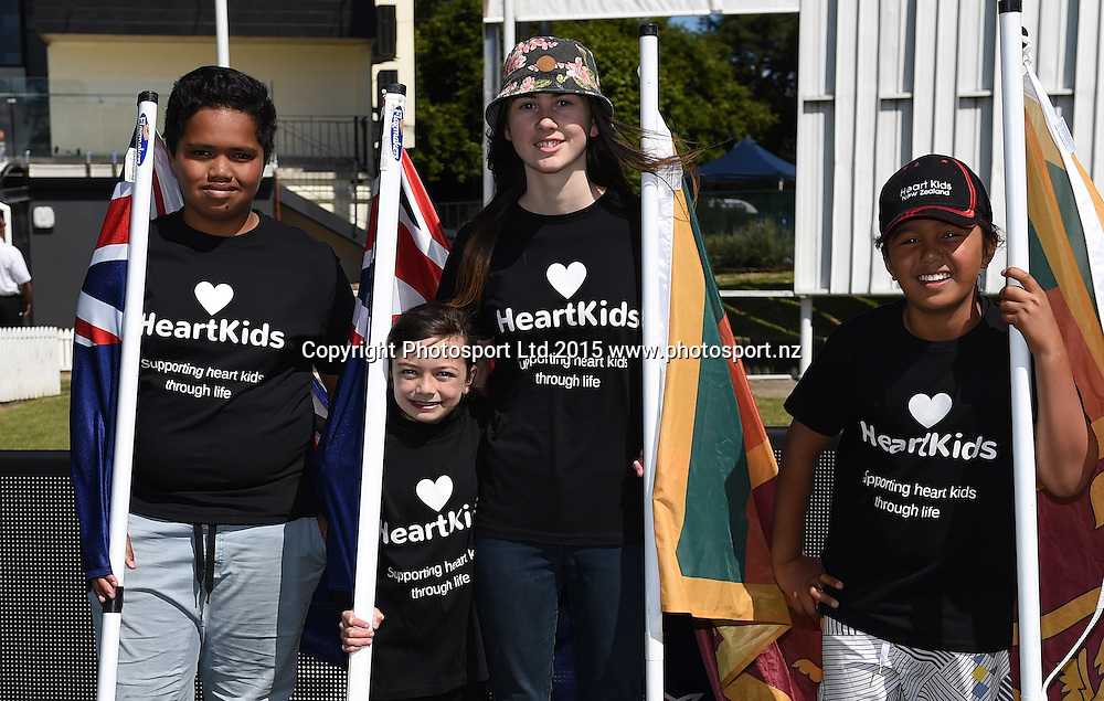 NZC Charity Heart Kids on day 1 of the 2nd cricket test match between New Zealand Black Caps and Sri Lanka at University Oval, Dunedin, New Zealand. Friday 18 December 2015. Copyright photo: Andrew Cornaga / www.photosport.nz