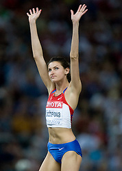 Anna Chicherova of Russia competes in the women's High Jump Final during day six of the 12th IAAF World Athletics Championships at the Olympic Stadium on August 20, 2009 in Berlin, Germany. (Photo by Vid Ponikvar / Sportida)