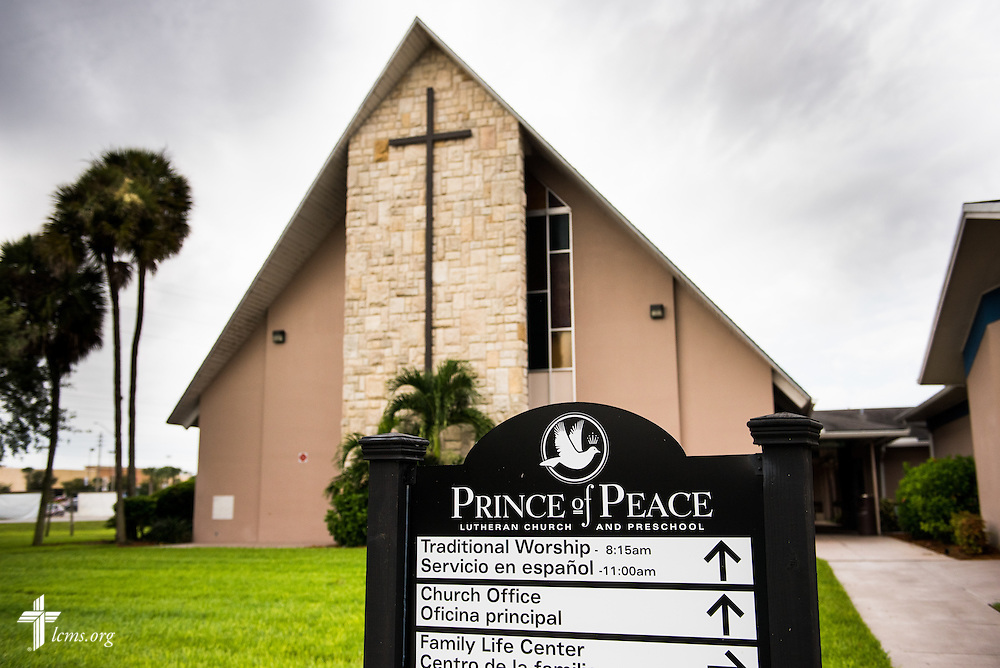 Exterior photograph of  Prince of Peace Lutheran Church in Orlando, Fla., on Sunday, Sept. 13, 2015. LCMS Communications/Erik M. Lunsford