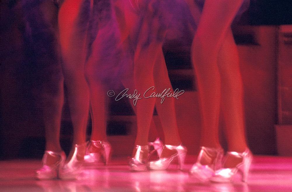 Samba show dancer's legs at Plataforma 1 Club, Rio de Janeiro, BRAZIL... .