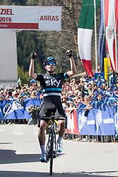 20.04.2016, Aras, AUT, 40. Giro del Trentino Melinda, 2. Etappe von Arno nach Aras, im Bild Mikel Landa (ESP, Etappensieger) // Stage winner Mikel Landa of Spain during the 2nd stage from Arco to Anras of 40th Giro del Trentino. Auras, Austria on 2015/04/20. EXPA Pictures © 2015, PhotoCredit: EXPA/ Johann Groder