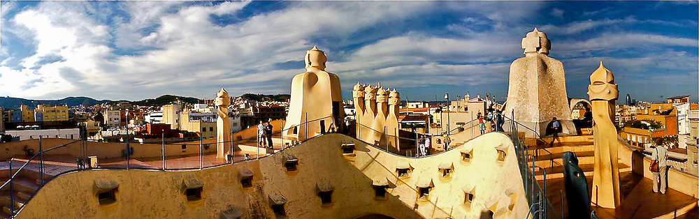 One of the most famous architectural building of famed architect, Gaudi in Barcelona, Spain.