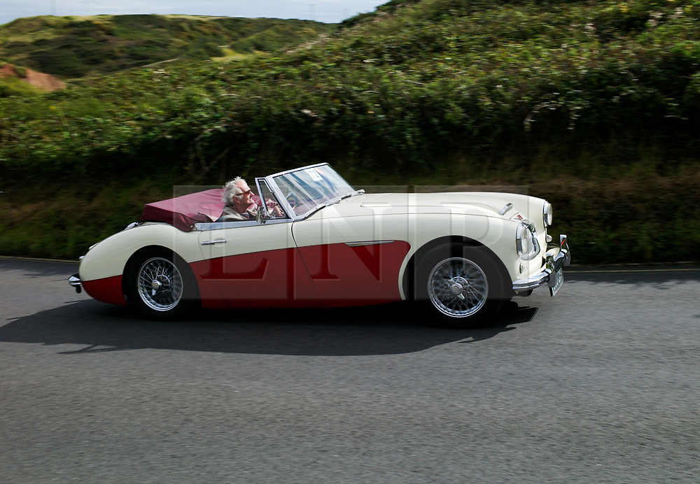 © Licensed to London News Pictures. <br /> 10/09/2017 <br /> Saltburn by the Sea, UK.  <br /> <br /> An entrant takes part in the annual Saltburn by the Sea Historic Gathering and Hill Climb event. Organised by Middlesbrough and District Motor Club the event brings together owners of a wide range of classic cars and motorcycles dating from the early 1900's to 1975. Participants take part in a hill climb to test their machines up a steep hill near the town. Once held as a competitive gathering a change in road regulations forced the hill climb to become a non-competitive event.<br /> <br /> Photo credit: Ian Forsyth/LNP