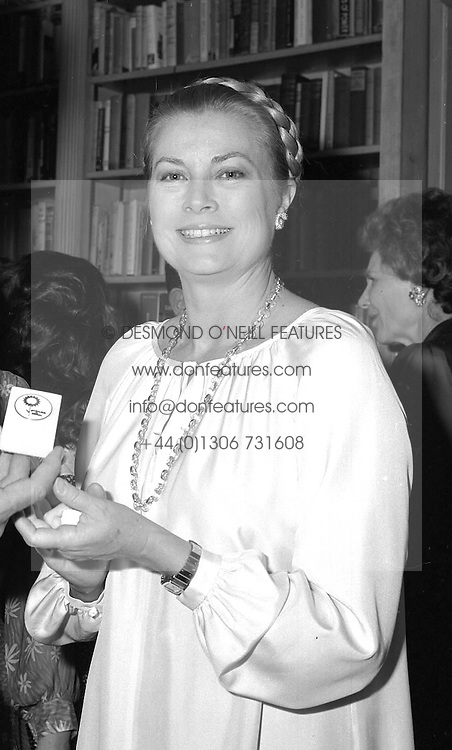 PRINCESS GRACE OF MONACO at a party in London on 6th July 1981.