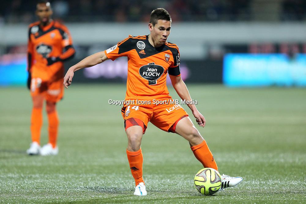 Raphael GUERREIRO - 14.03.2015 - Lorient / Caen - 29eme journee de Ligue 1<br /> Photo : Vincent Michel / Icon Sport