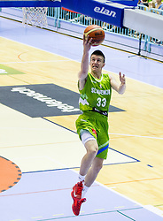 Matic Rebec of Slovenia during friendly basketball match between National teams of Slovenia and Georgia in day 2 of Adecco Cup 2014, on July 25, 2014 in Dvorana OS 1, Murska Sobota, Slovenia. Photo by Vid Ponikvar / Sportida.com