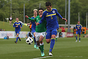 Stefan Rankic of Bosnia and Herzegovina (5) and Sean Brennan of Republic of Ireland (11) tussle for the ball during the UEFA European Under 17 Championship 2018 match between Bosnia and Republic of Ireland at Stadion Bilino Polje, Zenica, Bosnia and Herzegovina on 11 May 2018. Picture by Mick Haynes.
