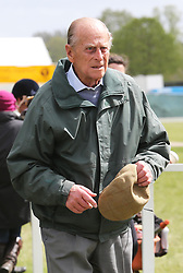 The Duke of Edinburgh  arriving at the Royal Windsor Horse Show, Thursday,  May 9th 2013.  Photo by: Stephen Lock / i-Images
