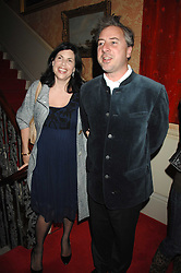 The HON.KIRSTIE ALLSOPP and BEN ANDERSON at the engagement party of Vanessa Neumann and William Cash held at 16 Westbourne Terrace, London W2 on 15th April 2008.<br />