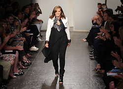 Donna Karan at the end of her show at  New York Fashion Week, Monday, 10th  September 2012. Photo by: Stephen Lock / i-Images