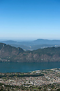 22/08/16 - AIX LES BAINS - SAVOIE - FRANCE - Aix les bains et le Lac du Bourget vu du Mont Revard - Photo Jerome CHABANNE