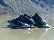 Icebergs on Tasman Lake, Mount Cook National Park, South Island, New Zealand