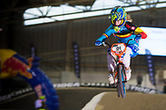 #91 (VANHOOF Elke) BEL at the 2014 UCI BMX Supercross World Cup in Manchester.