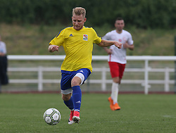May 31, 2018 - London, United Kingdom - Gergo Gyurki of Karpatalya.during Conifa Paddy Power World Football Cup 2018  Group B match between Northern Cyprus against Karpatalya at Queen Elizabeth II Stadium (Enfield Town FC), London, on 31 May 2018  (Credit Image: © Kieran Galvin/NurPhoto via ZUMA Press)