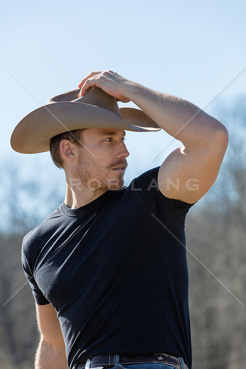 sexy-cowboy outdoors