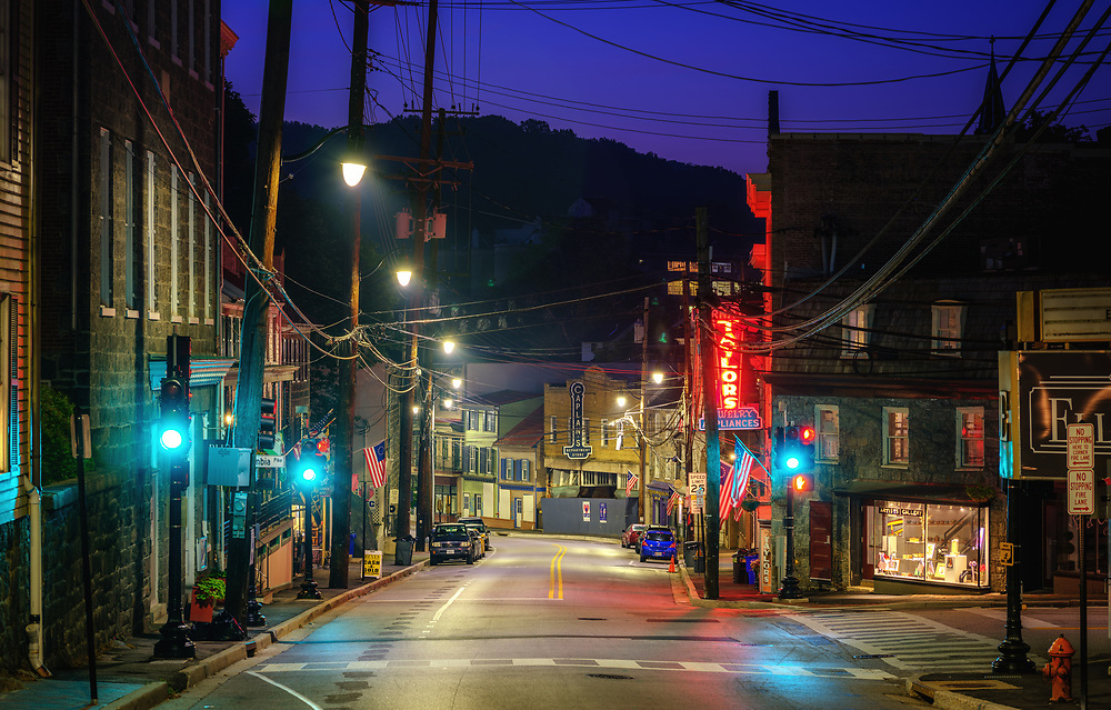 Blue hour in Ellicott City, Maryland.