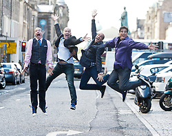 Paul F. Perry, Philip McNiven, Sam Lloyd and George Miserlis. Matt meets The Blanks, the a cappella group who appeared in the TV series Scrubs. They are appearing at this years  Edinburgh Fringe..